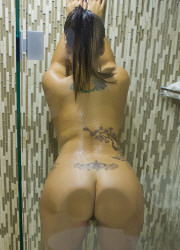 Soaking Wet Latin Babe Naughty Shower Finger Fucks Masturbation - Picture 5
